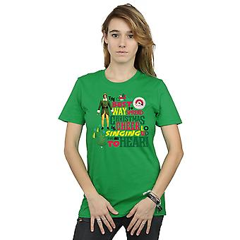 Elf Women's Christmas Cheer Boyfriend Fit T-Shirt
