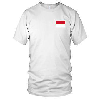Drapeau National du pays Indonésie - Logo - brodé 100 % coton T-Shirt Ladies T Shirt
