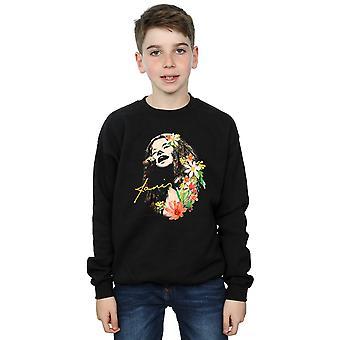 Janis Joplin Boys Floral Pattern Sweatshirt