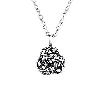 Nudo celta - plata de ley 925 Jewelled collares - W32088X