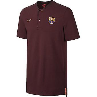 برشلونة عام 2017-2018 نايكي قميص بولو أصلية (ليلة أحمر داكن)