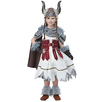 Valorous Viking Girl Medieval Barbarian Warrior Norse Book Week Girls Costume