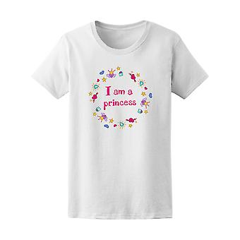 I Am A Princess Doodle Graphic Tee - Image by Shutterstock
