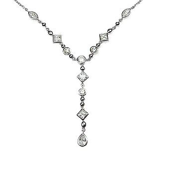 Shipton and Co Ladies Shipton And Co Exclusive Silver And Cubic Zirconia Necklace NQA209CZ1