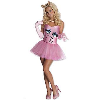 Miss Piggy de las Muppets rosa Disney Sexy mujeres con licencia vestuario