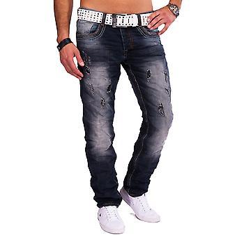 Mens Jeans destroyed Jeansnet Denim Tapered Fit Regular Fit Vintage torn