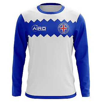 2020-2021 Islande Long Sleeve Away Concept Football Shirt (Enfants)