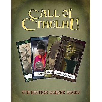 Call of Cthulhu Keeper jeu de cartes Decks