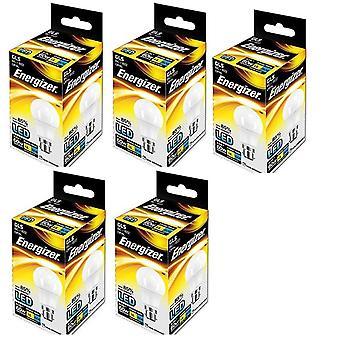 5 x Energizer B22d 9 W, 1 ampoule GLS BC (baïonnette bouchon) LED [classe énergétique A +]