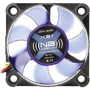 NoiseBlocker BlackSilent XS1 PC fan Black, Blue (translucent) (W x H x D) 50 x 50 x 10 mm