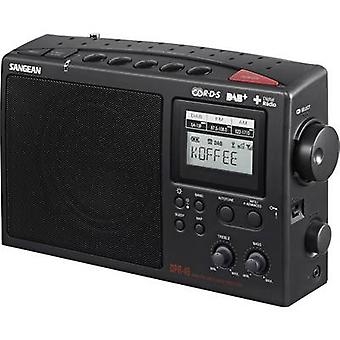 سانجان DPR-45 راديو المحمولة DAB +، FM، AM الأسود