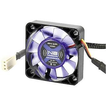NoiseBlocker BlackSilent XM1 PC fan Black, Blue (transparent) (W x H x D) 40 x 40 x 10 mm