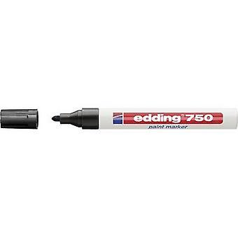 Edding 4-750001 edding 750 verf marker Verf marker Zwart 2 mm, 4 mm 1 pc's/pack