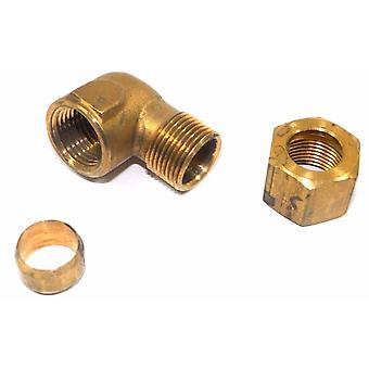 Big A Service Line 3-170860 Brass Pipe, 90 deg Street Elbow Fitting 1/2