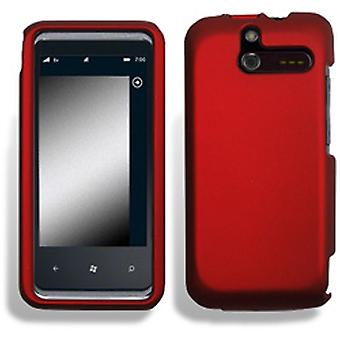 Wireless Mobile Rubber Shield for HTC 7575 Arrive - Red
