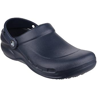 Crocs Ladies Crocs Bistro Slip On Breathable Croslite Work Clog Navy