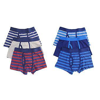 Boys Tom Franks Kids Striped Cotton Rich Boxer Shorts Trunk underwear 6 Pack