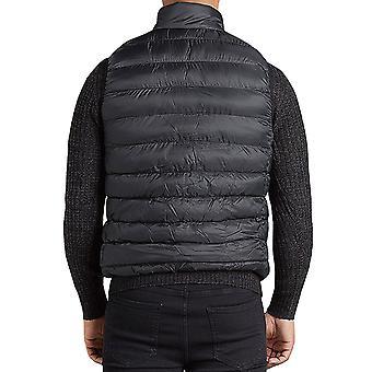 Brave Soul Mens Chadderton Full Zip Sleeveless Padded Bodywarmer Gilet Jacket
