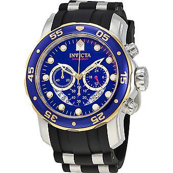 Invicta Pro Diver 22971 Silicone, montre chronographe en acier inoxydable