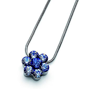 Oliver Weber Pendant Flower Rhodium Crystal