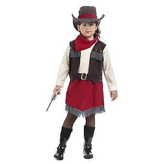 Cowgirl Velam Kız Kostüm Batı Kahraman Şerif Çocuk Kostüm