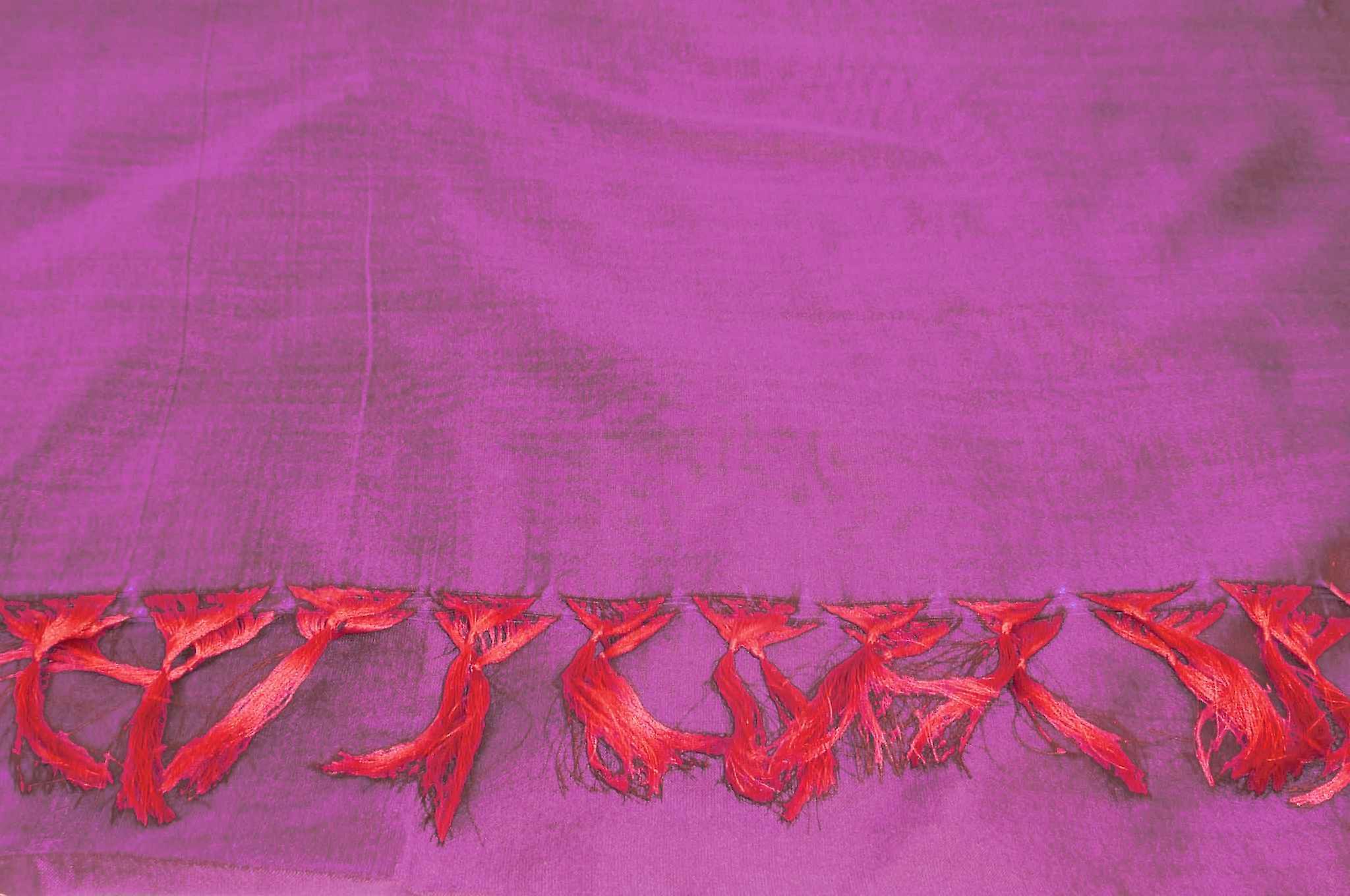 Varanasi Silk Long Scarf Heritage Range Kapoor 1 Carnation by Pashmina & Silk