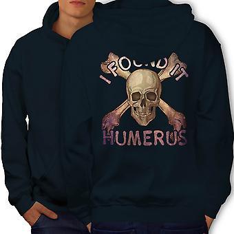 I Found It Humerus Men NavyHoodie Back | Wellcoda