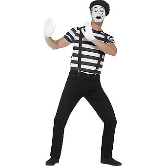 Gentleman Mime Artist Costume, Medium