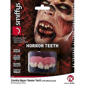 Horror Teeth, Zombie, with Upper Veneer Teeth, WHITE