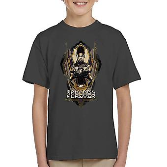 Marvel Black Panther Shuri Wakanda Forever Kid's T-Shirt