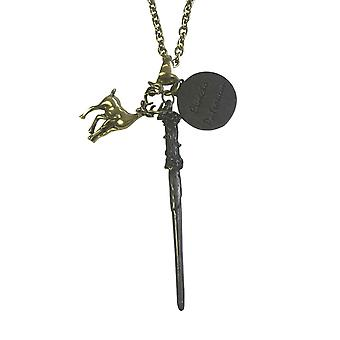 Harry Potter Necklace Pendant Expecto Patronum Spell Charms New Official Chain