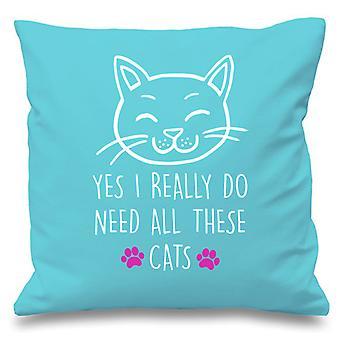 Blanc coussin couverture chat Oui j'ai vraiment besoin tous ces chats 16