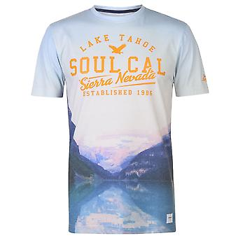 SoulCal Mens Deluxe City T Shirt Crew Neck T-Shirt Tee Top