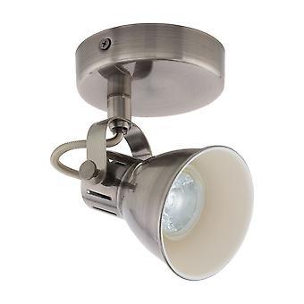 Eglo - Seras Satin Nickel parete doppia a LED orientabile Spot luce EG96552