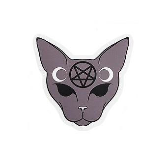 Etiqueta engomada del vinilo de extrema grandeza gato gótico