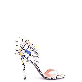 Msgm Ezbc016051 Women's Multicolor Fabric Sandaler