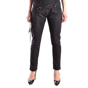 Elisabetta Franchi Ezbc050058 Women's Black Cotton Jeans