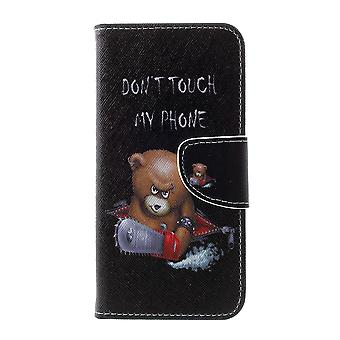Samsung Galaxy S10 Plånboksfodral - Angry Bear and Warning Words