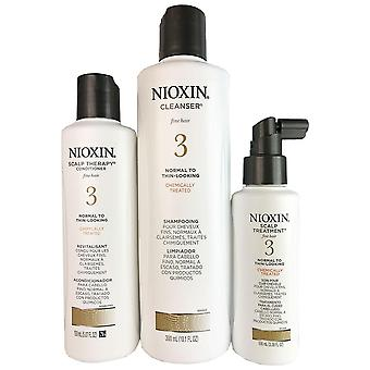Nioxin system 3 - 3 piece hair kit (shampoo, therapy conditioner, scalp treatment)