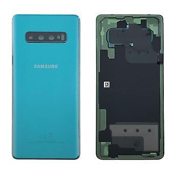 Samsung GH82-18406E bateria capa capa para Galaxy S10 mais G975F + adesivo pad Prism verde verde novo