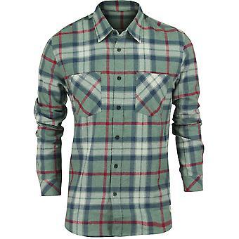 Camisa de franela manga para hombre Quiksilver Fitzthrower larga - verde Chinois