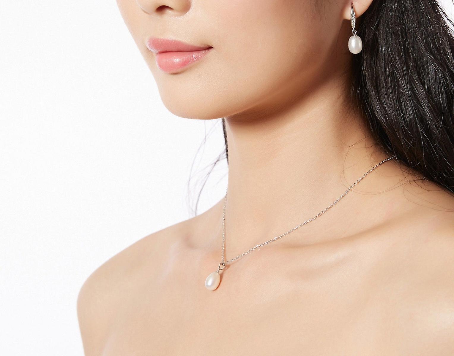 925 Sterling Silver Freshwater Pearl Faux Jewellery Set