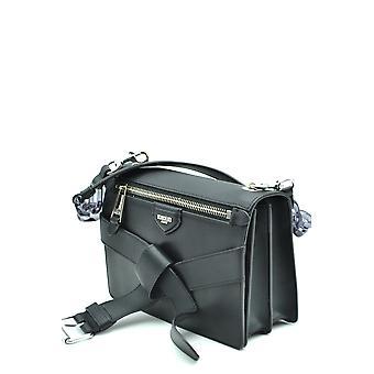 Moschino Ezbc015059 Women's Black Leather Shoulder Bag