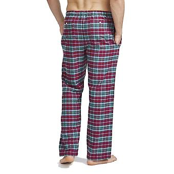 British Boxers Brunello Red Check Men's Pyjama Trousers