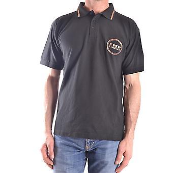 Andrew Mackenzie Ezbc245006 Uomini's Camicia Polo in cotone nero