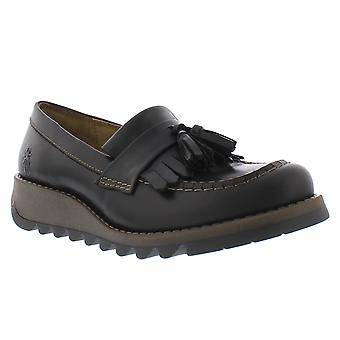 Womens Fly London Sepa Rug Leather Closed Toe Tassel Work Office Shoes