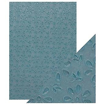 Craft Perfect by Tonic Studios A4 Hand Crafted Paper Floral Lace | Pack of 5