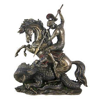 Bronze St. George the Dragon Slayer Statue