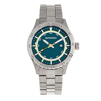 Breed Mechanic Bracelet Watch w/Date - Teal