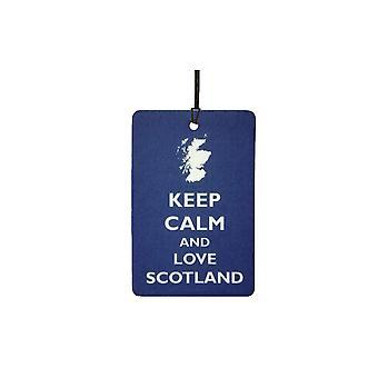 Mantieni la calma e amore Scozia Car Air Freshener
